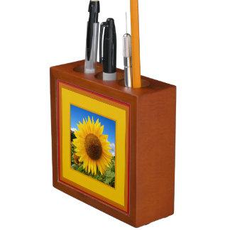 Happy Sunflower Designed Desk Organizer