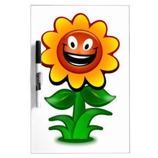 HAPPY SUNFLOWER DRY ERASE BOARD