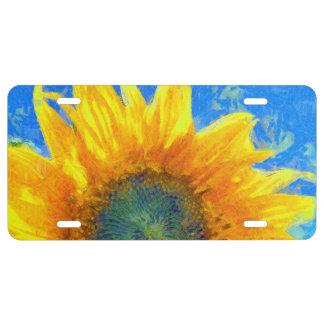 Happy Sunflower License Plate