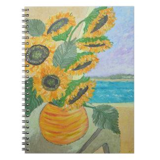 Happy Sunflower Notebook