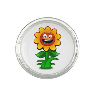 HAPPY SUNFLOWER PHOTO RINGS