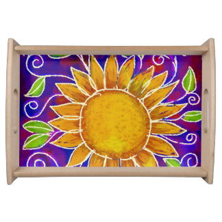Happy Sunflower Tray Serving Platters