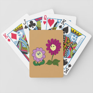 Happy Sunflowers Bicycle Playing Cards