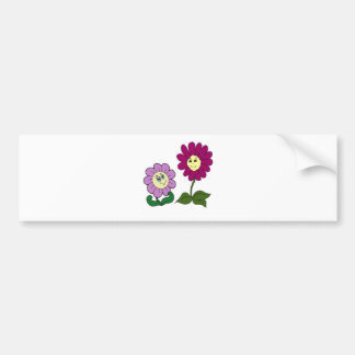 Happy Sunflowers Bumper Sticker