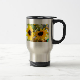 Happy Sunflowers with Your Name Mug