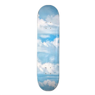 Happy Sunny Clouds Background Scenery Skateboard Decks