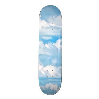 Happy Sunny Clouds Background Skateboard Decks