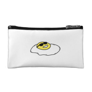 Happy Sunny Side Up Egg with Face - Sunglasses Makeup Bag