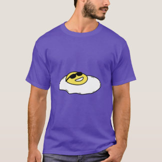 Happy Sunny Side Up Egg with Face - Sunglasses T-Shirt