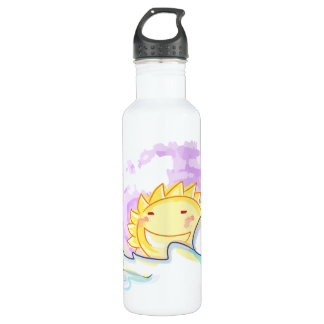 Happy sunrise smiles with clouds bottle