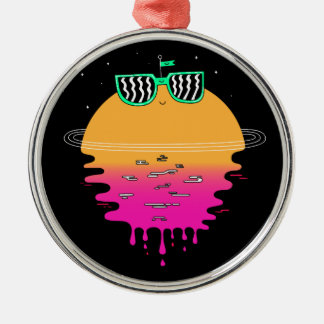 Happy Sunset Metal Ornament