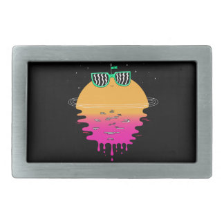 Happy Sunset Rectangular Belt Buckle