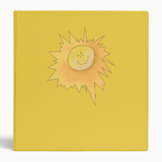 Happy Sunshine Face Yellow Binder