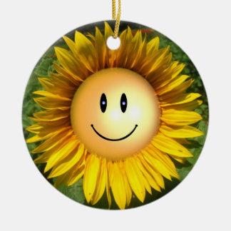Happy Sunshine Flower Ceramic Ornament