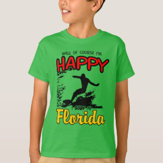 Happy SURF FLORIDA 2. Black T-Shirt