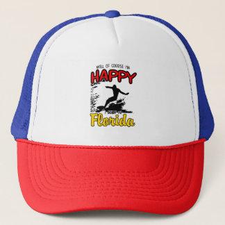 Happy SURF FLORIDA 2. Black Trucker Hat