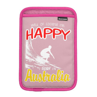 Happy Surfer AUSTRALIA (Wht) iPad Mini Sleeve