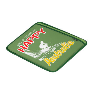 Happy Surfer AUSTRALIA (Wht) Sleeve For MacBook Air