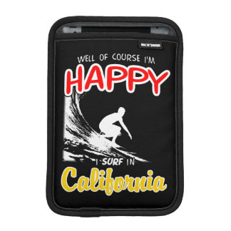 Happy Surfer CALIFORNIA (Wht) iPad Mini Sleeve