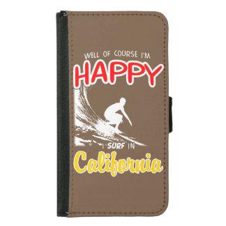 Happy Surfer CALIFORNIA (Wht) Samsung Galaxy S5 Wallet Case