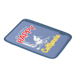 Happy Surfer CALIFORNIA (Wht) Sleeve For MacBook Air