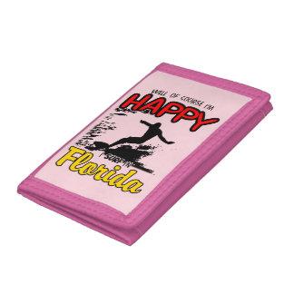 Happy Surfer FLORIDA (blk) Tri-fold Wallets