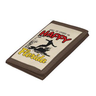 Happy Surfer FLORIDA (blk) Trifold Wallet