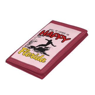 Happy Surfer FLORIDA (blk) Trifold Wallets