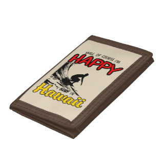 Happy Surfer HAWAII (blk) Tri-fold Wallet