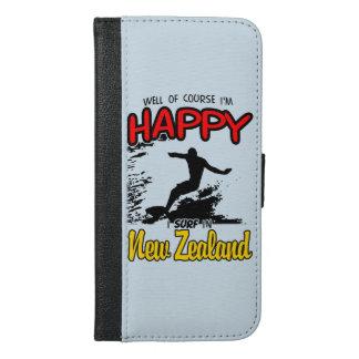Happy Surfer NEW ZEALAND (Blk) iPhone 6/6s Plus Wallet Case