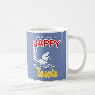 Happy Surfer TASSIE (Wht) Coffee Mug