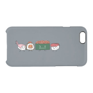 Happy Sushi Brothers rice Japanese shrimp salmon Clear iPhone 6/6S Case
