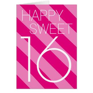 Happy Sweet 16 Birthday card design for teen girl
