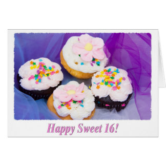 Happy Sweet 16 Chocolate Cupcakes Card