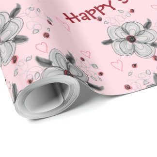 Happy Sweet 16 Pink Gift Wrap
