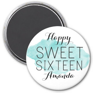 Happy Sweet 16 Watercolor Magnet