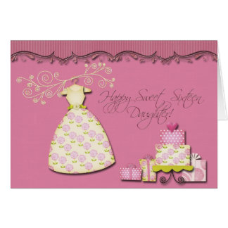 Happy Sweet Sixteen Daughter Card