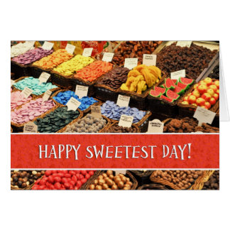 Happy Sweetest Day Assorted Colorful Candy Card