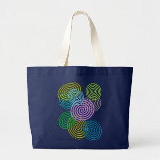 Happy Swirls Jumbo Tote Jumbo Tote Bag