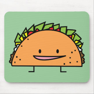 Happy Taco corn shell beef meat salsa Mexican food Mouse Pad