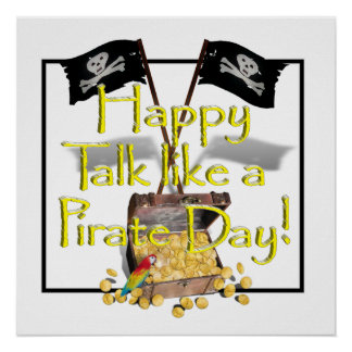 Happy Talk like a Pirate Day Poster