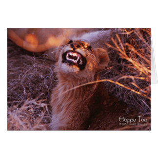 Happy Tau, Smiling Lion Cub Card