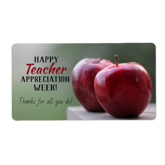 Happy Teacher Appreciation Week Gift Labels