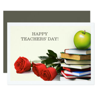 Happy Teachers' Day Custom Flat Cards