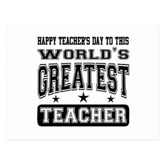 Happy Teacher's Day To World's Greatest Teacher Postcard