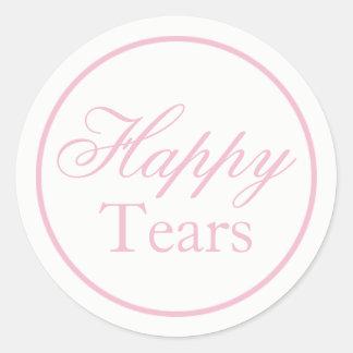 """Happy Tears"" Wedding Sticker - Blush Pink"
