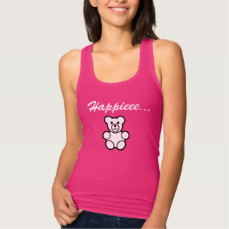 Happy Teddy Bear Pink T-shirt For Women