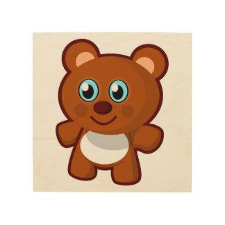 HAPPY TEDDY BEAR WOOD CANVASES
