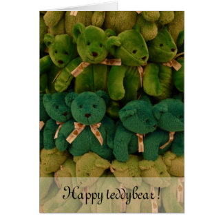 Happy teddybear! card