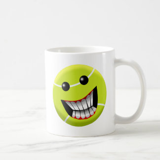 HAPPY TENNIS BALL COFFEE MUG